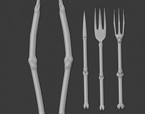 Skeleton Fork Rivet Tongs Set 3D Models