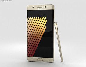Samsung Galaxy Note 7 Gold Platinum 3D
