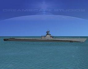 3D model Gato Class Submarine SS244 USS Cavalla
