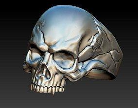 head Skull ring 3D print model