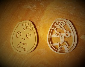 3D printable model Zombie easter egg cookie cutter