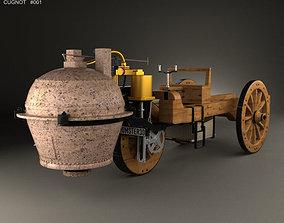 Cugnot Fardier a vapeur 1771 3D