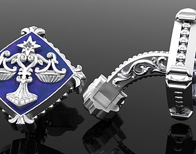 Zodiac signs Cufflinks Libra 3D printable model