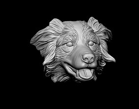 Australian shepherd head 3D printable model