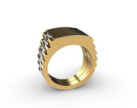 Men ring Wight yellow gold 3D printable model