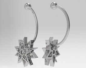 Piercing Barbells with Stars 3D print model