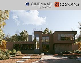 Corona - C4D scene files - KETTLE HOLE HOUSE apartment 3D