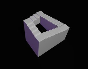 Penrose infinite stairs 3D print model