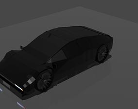 Lowpoly Racing Car 3D model