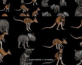 3D model aussie wild life -1