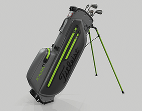 Titleist Gray-Green StaDry Golf Bag Plus 3D model
