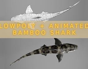 Bamboo Shark 3D asset animated