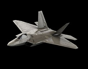 rigged F-22 Raptor - 3D Model - Stealth Aircraft