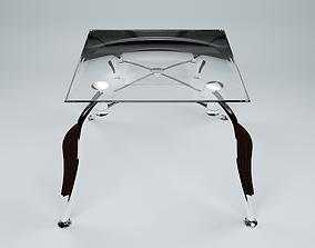 3D model Glass table room