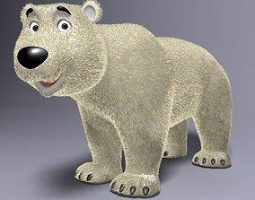 Cartoon Polar Bear Rigged 3D asset VR / AR ready