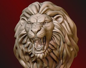 Lion Head jewellery 3D print model