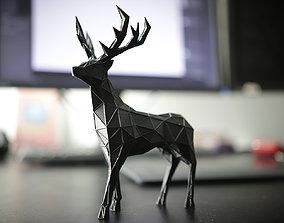 Deer Stag Low Poly 3d Print deer