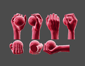 Detailed Female Casual Grip 3D Printable
