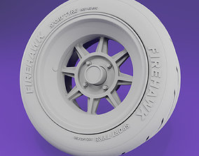 Scale model wheel - Hayashi Racing Street -16in- rims and