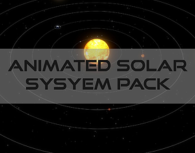 3D asset Animated Solar System Pack
