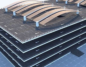 3D asset Multi -Storey Parking - Floor Parking