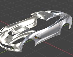 3D asset Fairing of a Chevrolet Corvette Car