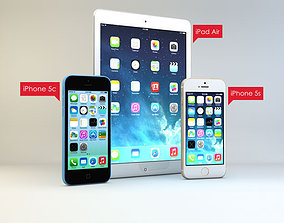 Apple products 3D model