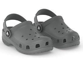 3D model Crocs Classic Clog Slate Grey