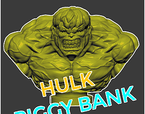 The Hulk Bust - The Hulk Piggy Bank 3D printable model 1