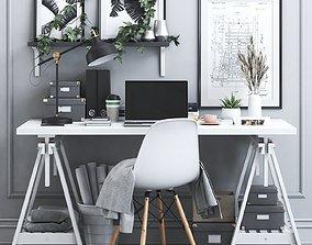 3D model Office workplace 18