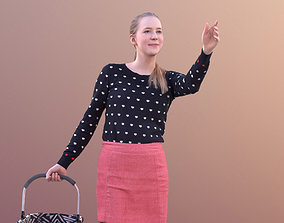 3D asset Anna 10546 - Walking Shopping Woman