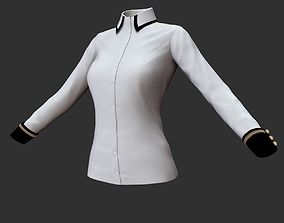 Blouse 3D model woman