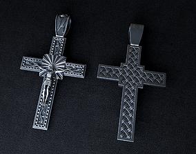 Christian cross 3D modell