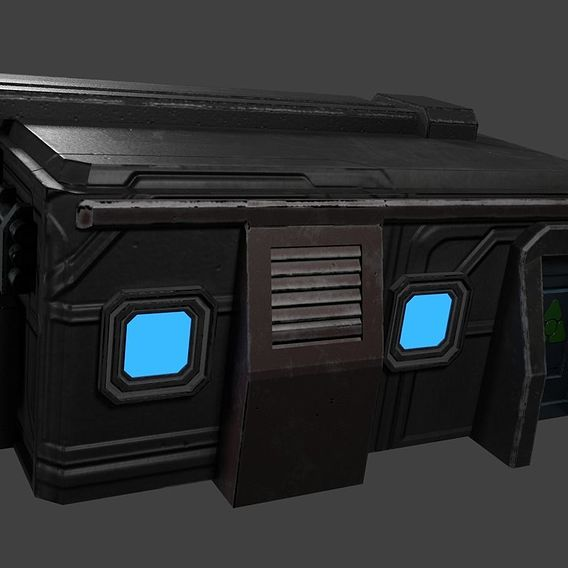 SCI-FI MINI-HOUSE READY FOR GAME