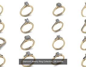 3D Diamond Jewelry Ring Collection