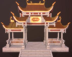 3D model palace Asian fairyland building temple shrine