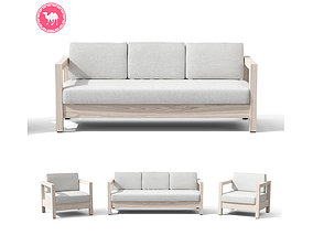 3D model Arca Driftwood Gray Sofa Set