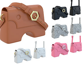 3D asset Off-White Burrow Bag