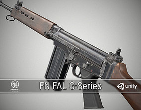 3D model low-poly PBR FN-FAL G-Series