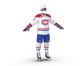 3D Hockey Equipment Montreal Canadiens
