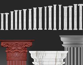 colomn set collection 3D model