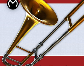 Alto Trombone - Real Time PBR 3D asset