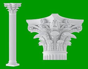 3D Roman Corinthian Column