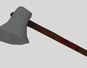 3D model Axe low-poly