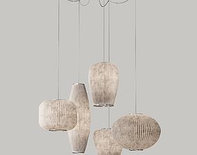 Arturo Alvarez Coral Multiple Drop Pendant set 3D model
