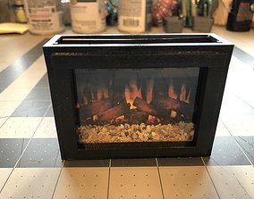 3D printable model 12th Scale Gas Fireplace Insert