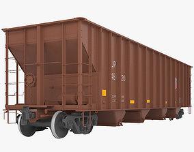 3D model Railroad hopper wagon