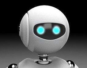 3D model VR / AR ready Rigged robot character