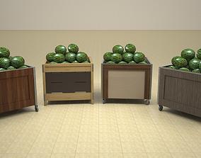 3D Set Of Four Dump Bins