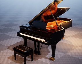 3D model Grand Piano UE4-Ready